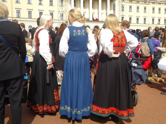 Costumes de la norvègienne- vue arrière