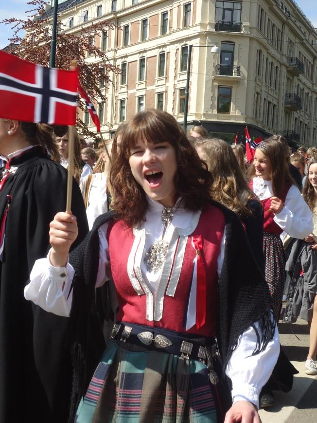 Norvégienne enjouée